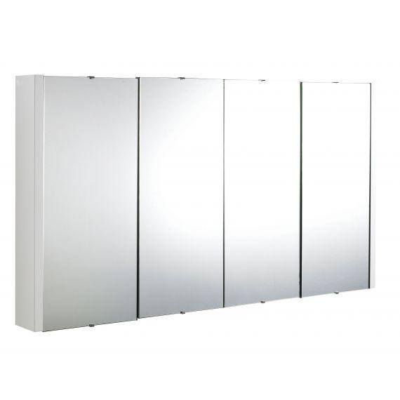 Nuie Eden Gloss White 1200mm Mirror Cabinet