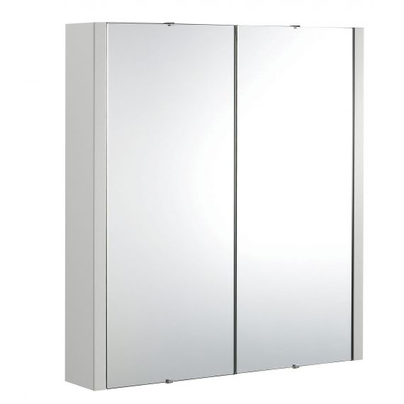 Nuie Parade Gloss Grey Mist 600mm Mirror Cabinet