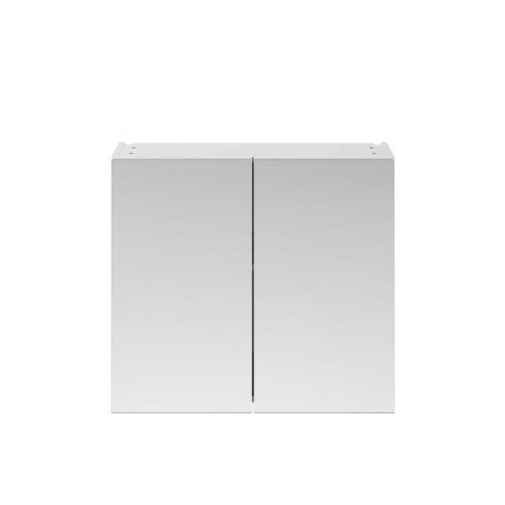 Nuie Athena Gloss White 800mm Mirror Unit (50/50)