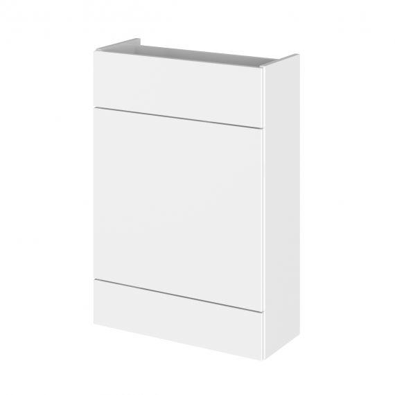 Fusion Gloss White 600mm WC Unit - Compact