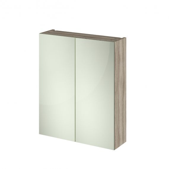 Nuie Driftwood 600mm Mirror Unit (50/50)
