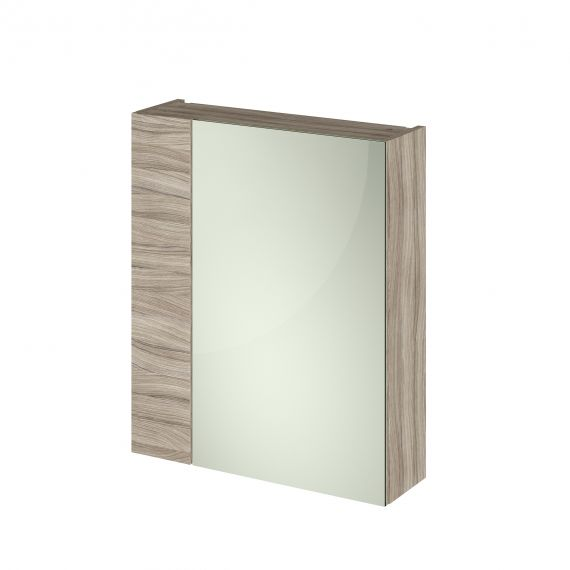 Nuie Driftwood 600mm Mirror Unit (75/25)