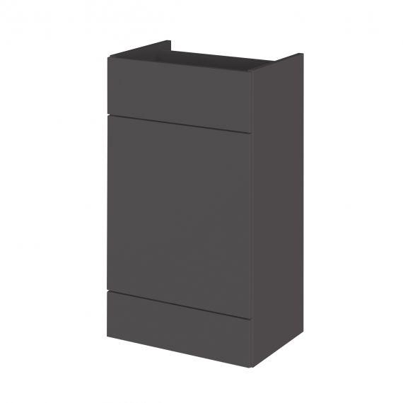Fusion Gloss Grey 500mm WC Unit