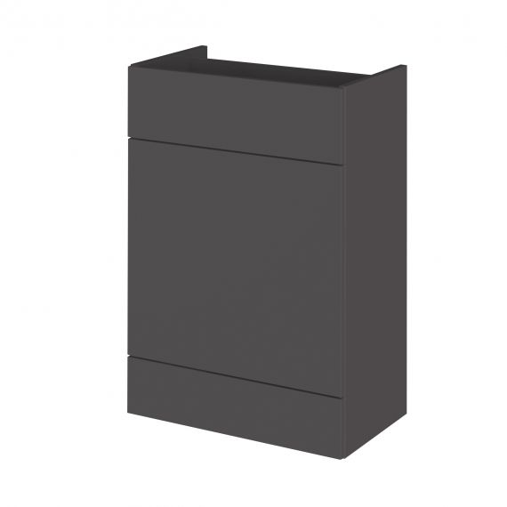 Fusion Gloss Grey 600mm WC Unit