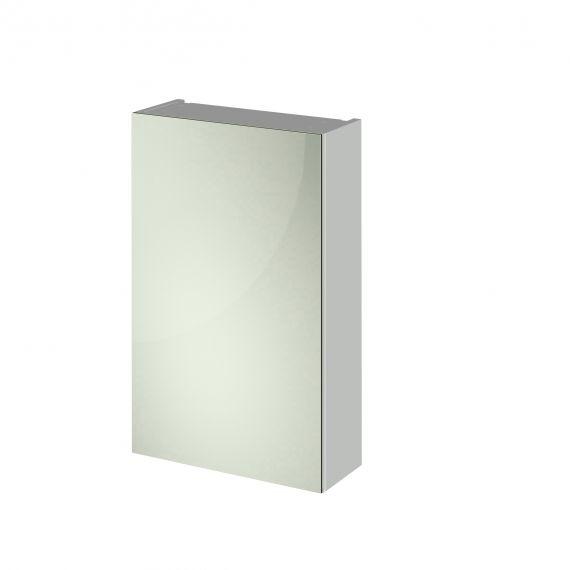 Nuie Gloss Grey Mist 450mm Mirror Cabinet