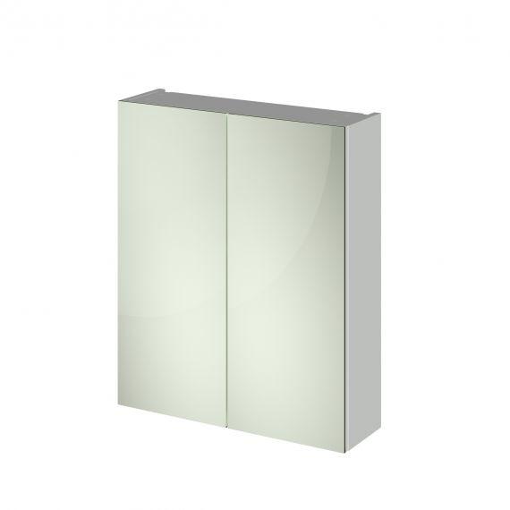 Nuie Gloss Grey Mist 600mm Mirror Unit (50/50)