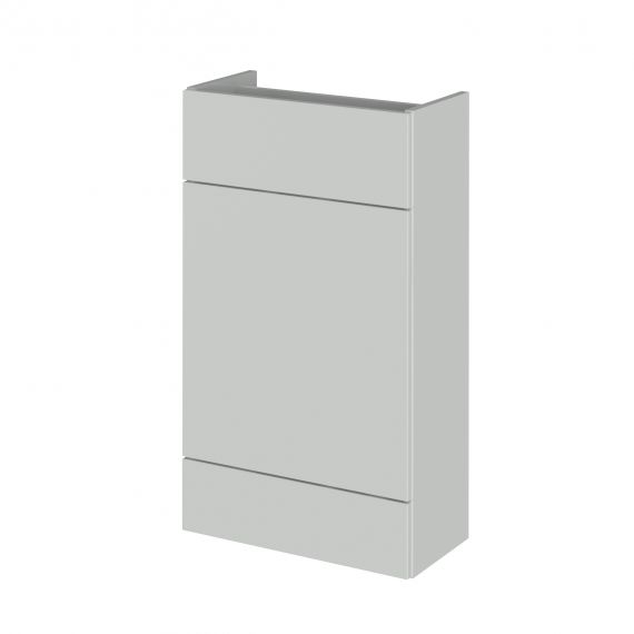 Fusion Gloss Grey Mist 500mm WC Unit - Compact