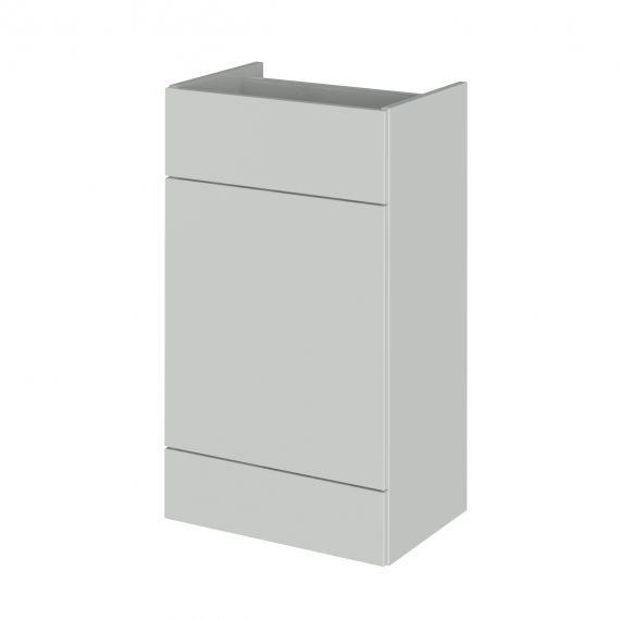 Fusion Gloss Grey Mist 500mm WC Unit