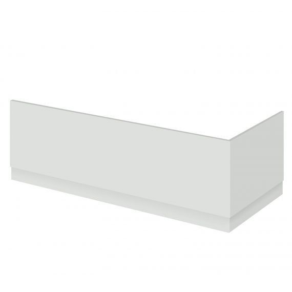 Nuie Gloss Grey Mist 1700mm Bath Front Panel