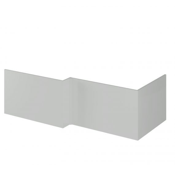 Nuie Gloss Grey Mist 700mm Shower Bath End Panel