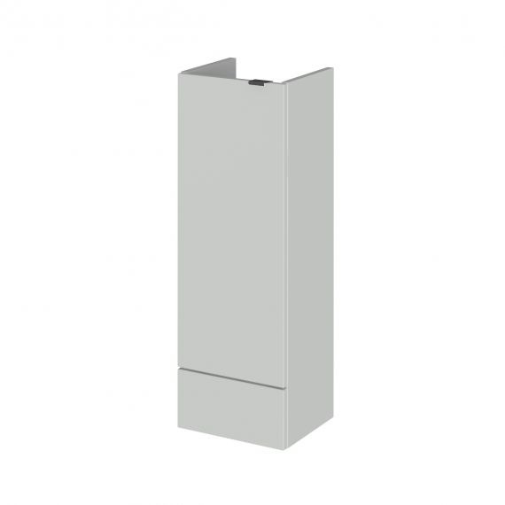 Hudson Reed Fusion Gloss Grey Mist 300mm Base Unit - Compact