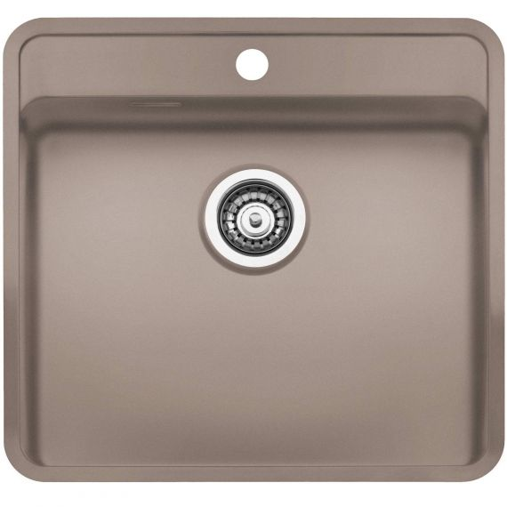 Reginox Ohio Coloured Stainless Steel Kitchen Sink Tap Wing Beige 440 x 510mm