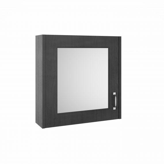 Nuie York Royal Grey 600m Mirror Cabinet