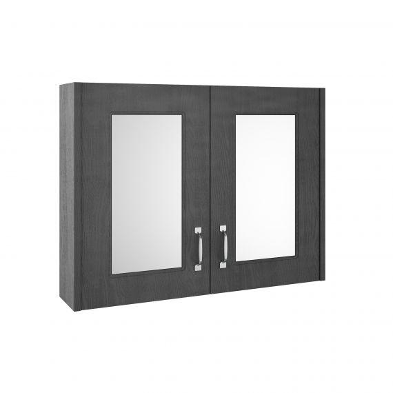 Nuie York Royal Grey 800mm Mirror Cabinet