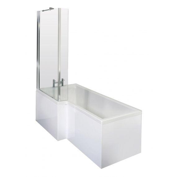 1700mm Left Hand Square Shower Bath Set