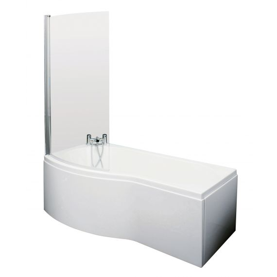 1500mm B Shaped Left Hand Bath Set