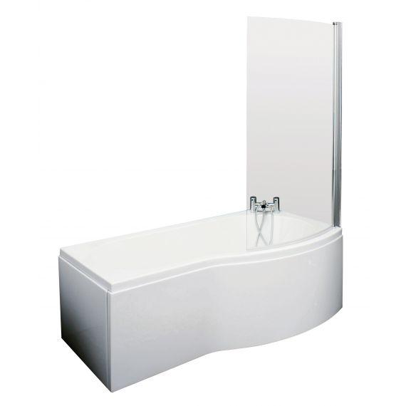 1500mm B Shaped Right Hand Bath Set