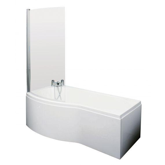 1700mm B Shaped Left Hand Bath Set