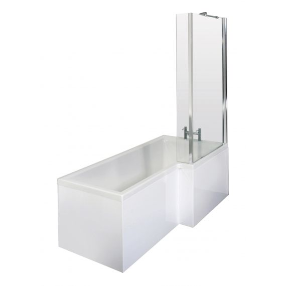 1500mm Right Hand Square Shower Bath Set