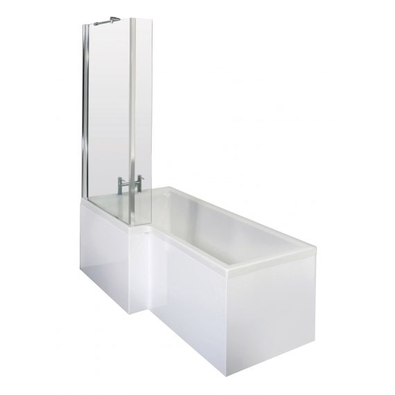 1500mm Left Hand Square Shower Bath Set