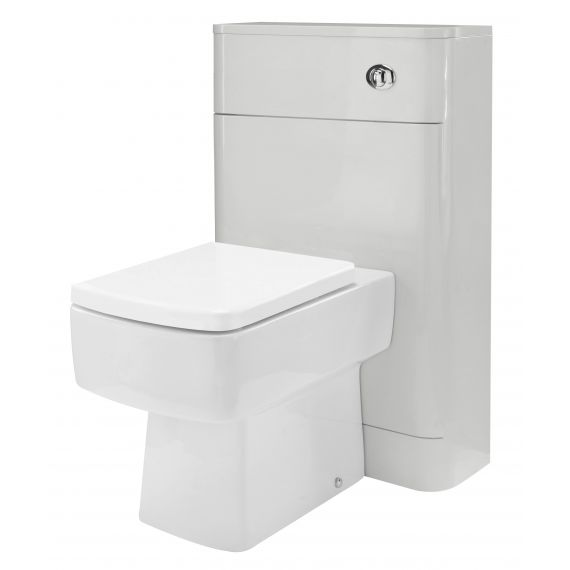 Nuie Parade Gloss Grey Mist 550mm WC Unit