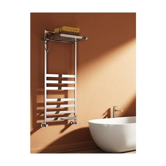 Reina Porte Chrome Designer Heated Towel Rail 1200 x 500mm