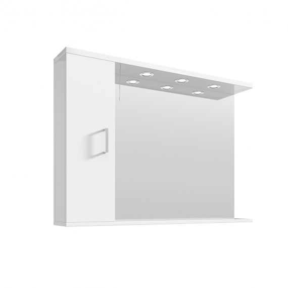 Nuie Mayford Gloss White 1050mm Mirror