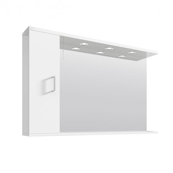 Nuie Mayford Gloss White 1200mm Mirror