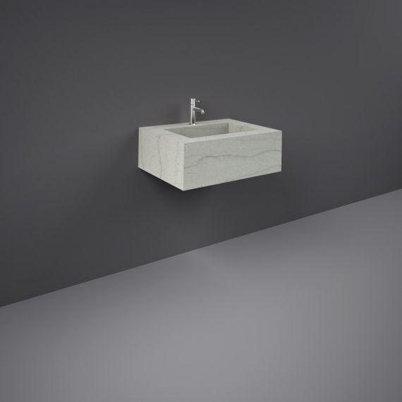 RAK-Precious 600mm Wall Mounted Counter Wash Basin with 0th in Macaubus