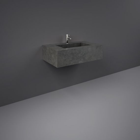 RAK-Precious 800mm Wall Mounted Counter Wash Basin with 1th in Behind Grey