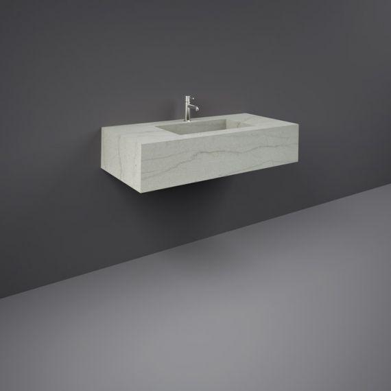 RAK-Precious 1000mm Wall Mounted Counter Wash Basin with 1th in Macaubus
