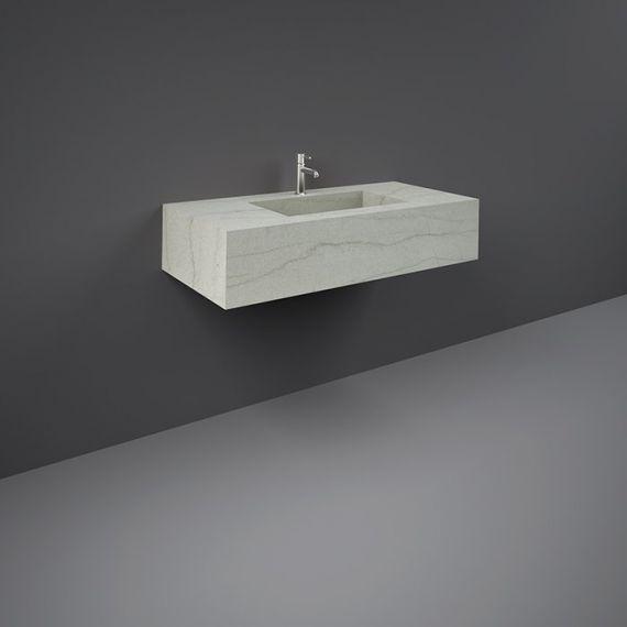 RAK-Precious 1000mm Wall Mounted Counter Wash Basin with 0th in Macaubus