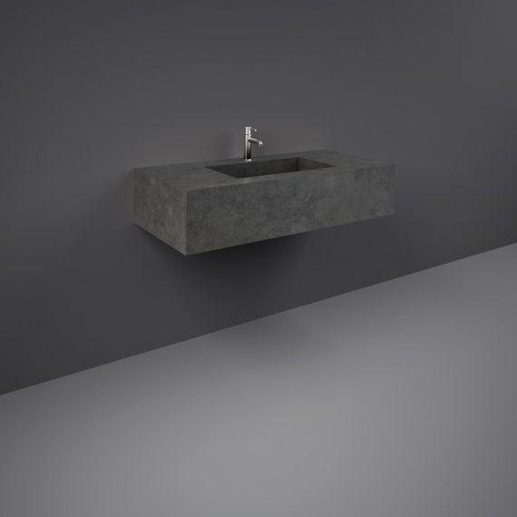 RAK-Precious 1000mm Wall Mounted Counter Wash Basin with 0th in Behind Grey