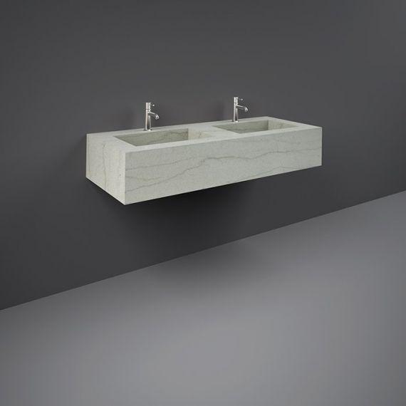 RAK-Precious 1200mm Wall Mounted Counter Wash Basin with 0th in Macaubus
