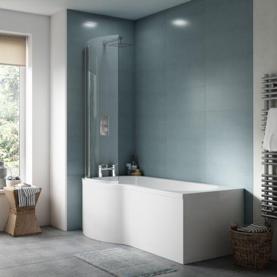 1700mm Left Hand P-Shaped Bath Set