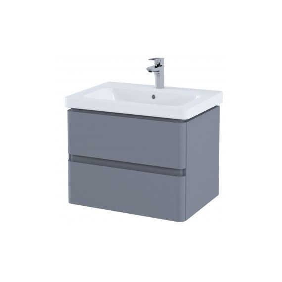 RAK-Resort 650 Double Draw Basin Unit in Matt Grey