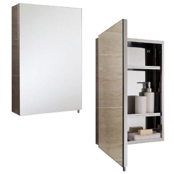 Cube 1 Door Bathroom Mirror Cabinet