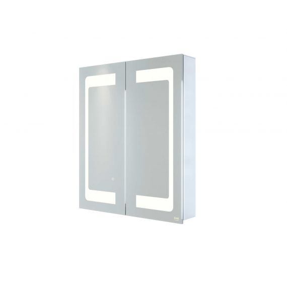 RAK-Aphrodite 600x700 LED Illuminated Mirrored Recessable Cabinet with demister,shavers socket and infra red switch