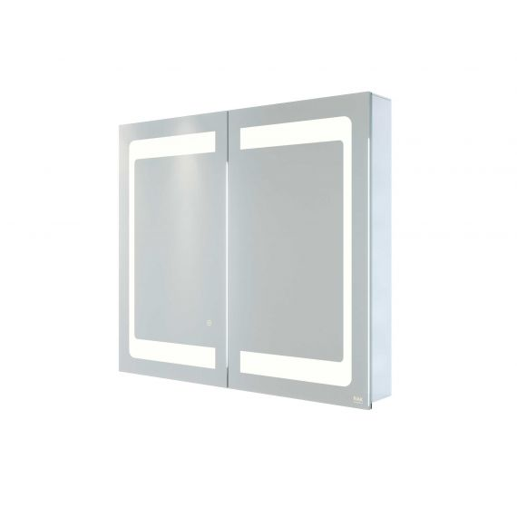 RAK-Aphrodite 800x700 LED Illuminated Mirrored Recessable Cabinet with demister,shavers socket and infra red switch