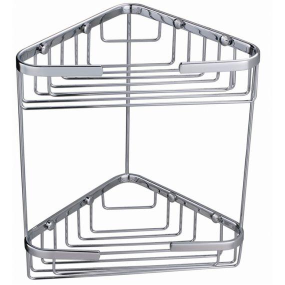 Double Corner Basket Chrome