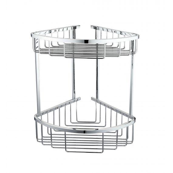 Double Corner Basket Round Front Chrome