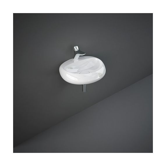 RAK Cloud Wall Hung Basin 550mm - Gloss White