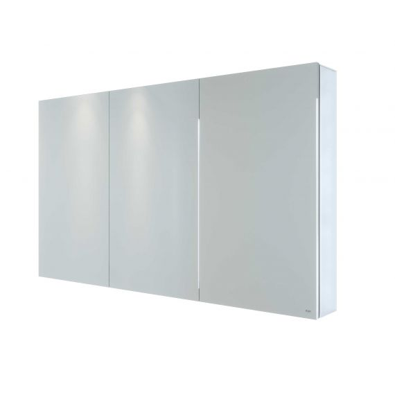 RAK-Gemini 1200x700 Alluminium Triple Door Mirrored Cabinet with adjustable shelves