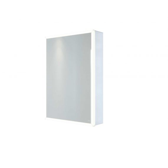 RAK-Pisces 500x700 LED Illuminated Mirrored Cabinet with demister,shavers socket and infra red switch