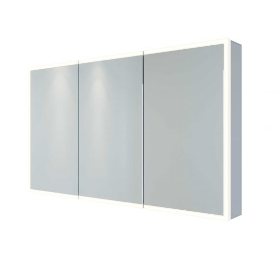 RAK-Pisces 1200x700 LED Illuminated Mirrored Cabinet with demister,shavers socket and infra red switch