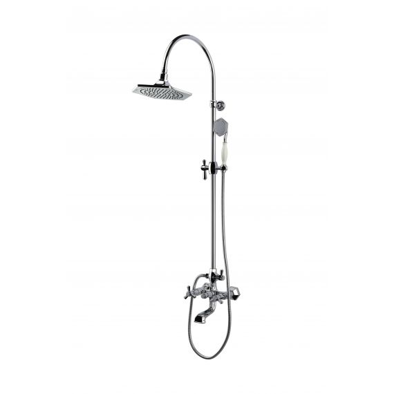 RAK-Washington Exposed Thermostatic Shower Column Valve with Bath Spout and Shower Kit