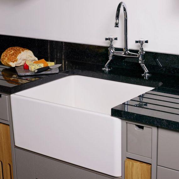 Reginox Contemporary Belfast Ceramic Sink 595 x 455
