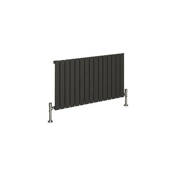 Reina Flat Single Panel Anthracite Designer Radiator 600 x 440mm