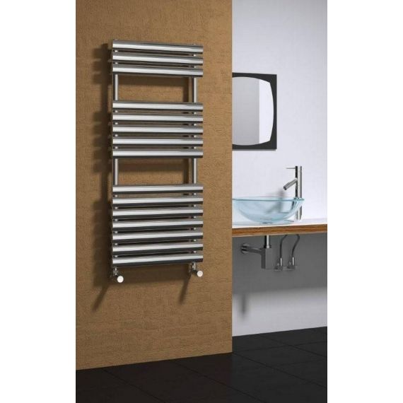 Reina Helin Designer Heated Towel Rail 1535 x 500mm Polished
