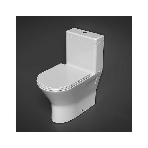 RAK Resort Mini Close Coupled BTW Rimless Toilet with Slim Sandwich SC Seat
